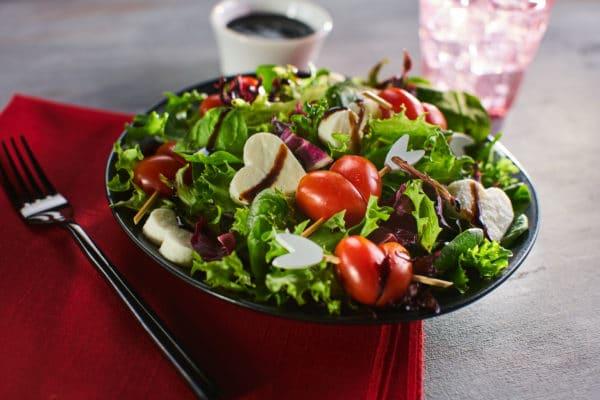 Balsamic Mozzarella Valentine's Day Salad