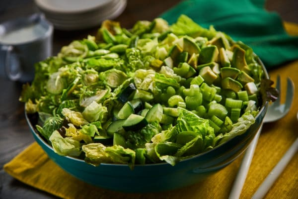Green on Green Salad