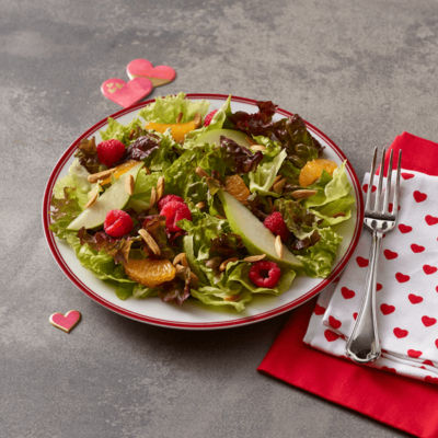 Clementine Pear Salad with Chocolate Vinaigrette