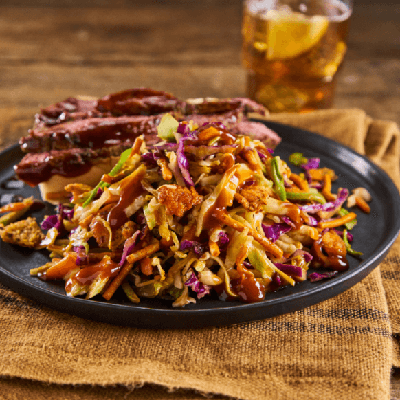 Grilled Texas Flank Steak with BBQ Slaw