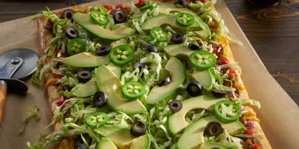 Vegetarian Taco Pizza