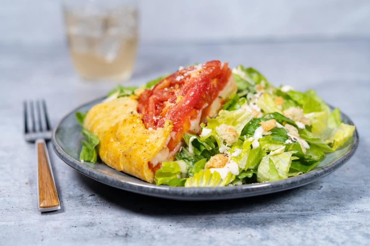 Caesar Salad Tomato Tart
