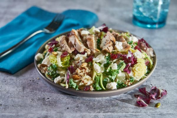 Chicken with Ancient Grains Kale Salad
