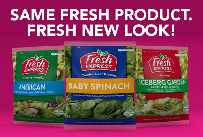 same fresh product, fresh new look