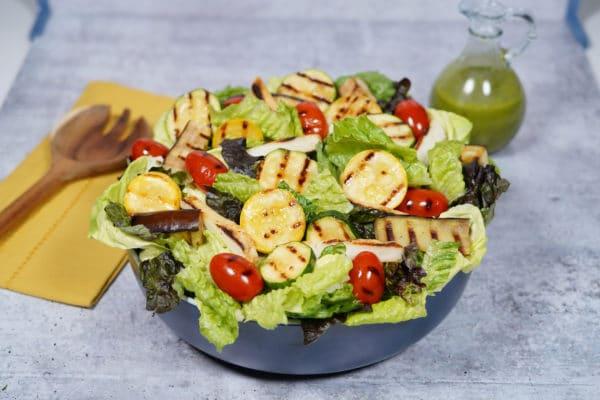 Grilled Vegetable & Halloumi Salad