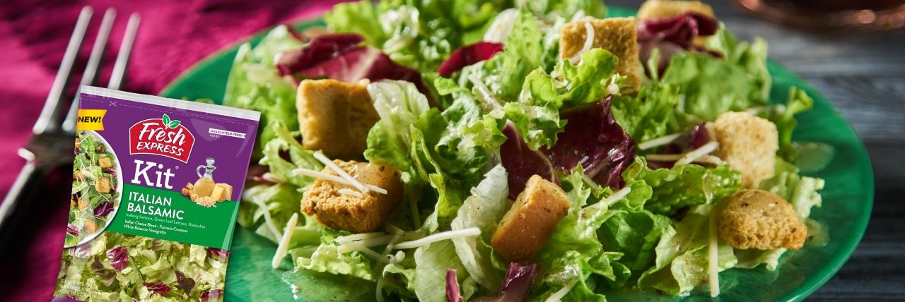 NEW Fresh Express® Italian Balsamic Salad Kit