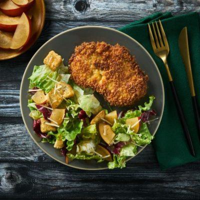 Pork Schnitzel with Italian Balsamic Plum Salad
