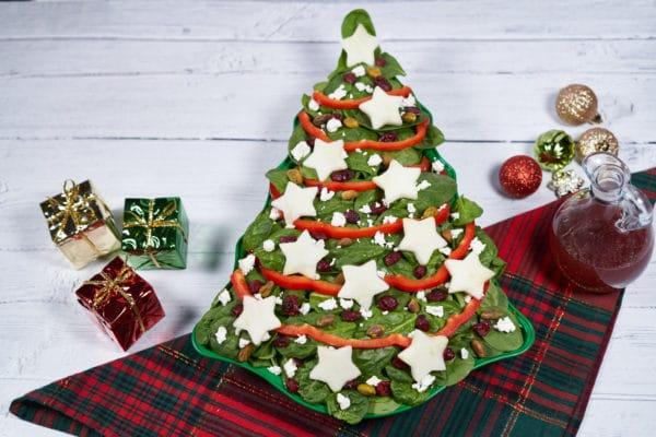 Spinach Christmas Tree Salad