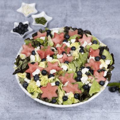 Watermelon Blueberry Feta Salad