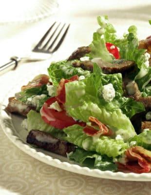 Black & Bleu Caesar Salad Recipe