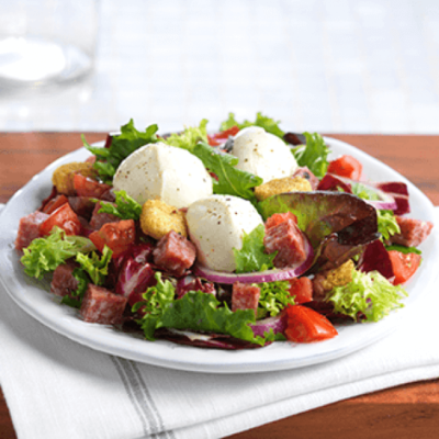 Buffalo Mozzarella & Salami Salad