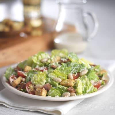 Caesar Salad Recipe with White Beans