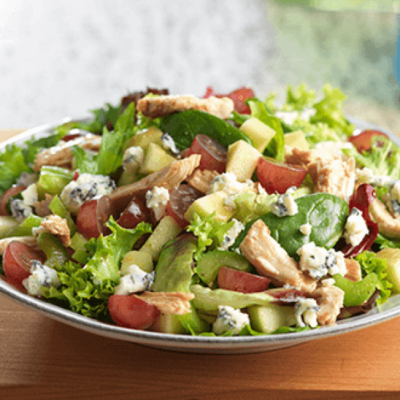 Chicken Spring Mix Salad with Grapes and Gorgonzola