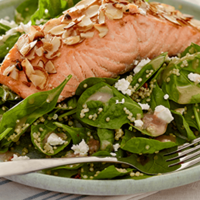 Strawberry Fields Kit with Almond-Crusted Salmon