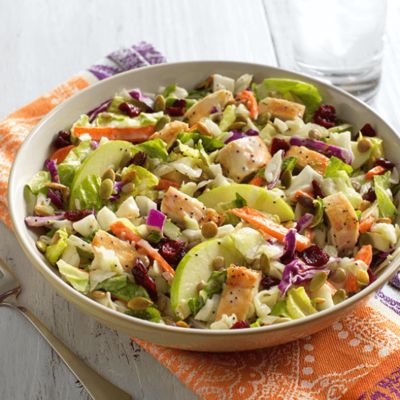 Poppyseed Chicken Salad with Lentils & Apples