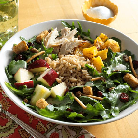 Pumpkin Spice Grain Salad Bowl