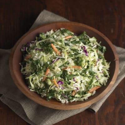 Rainbow Sesame Slaw with Kale