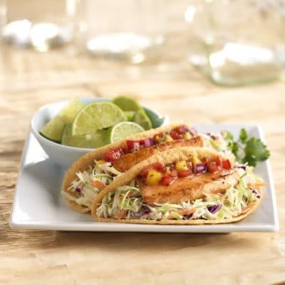 Salmon Slaw Tacos