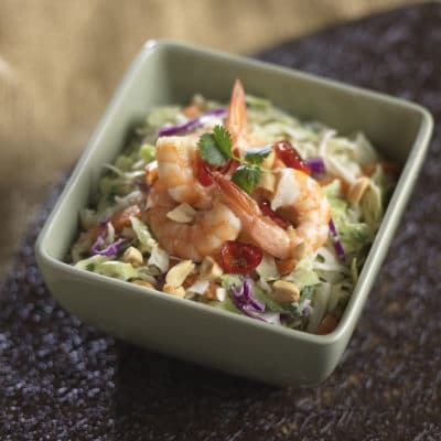 Thai Peanut Slaw & Spicy Shrimp