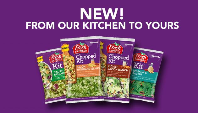 NEW Fresh Express<strong>® Salad Kits</strong>