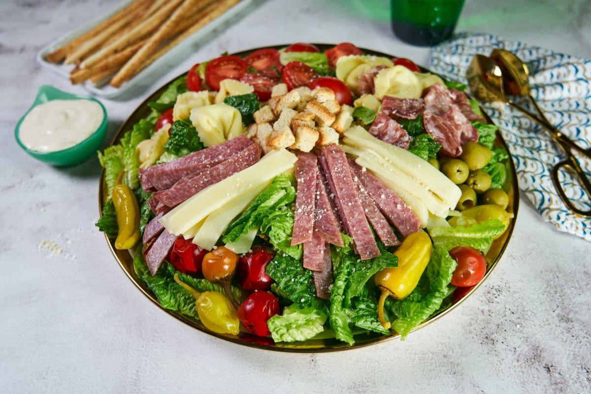 Italian Antipasto Caesar Salad