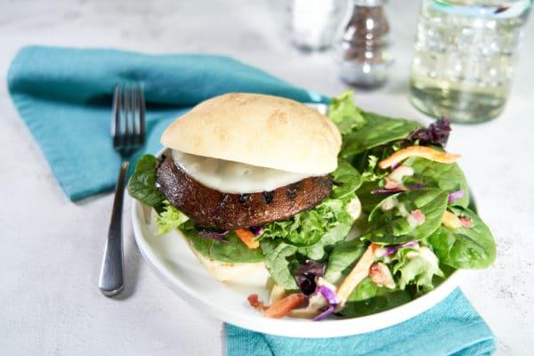 Grilled Portobello Spinach Burger